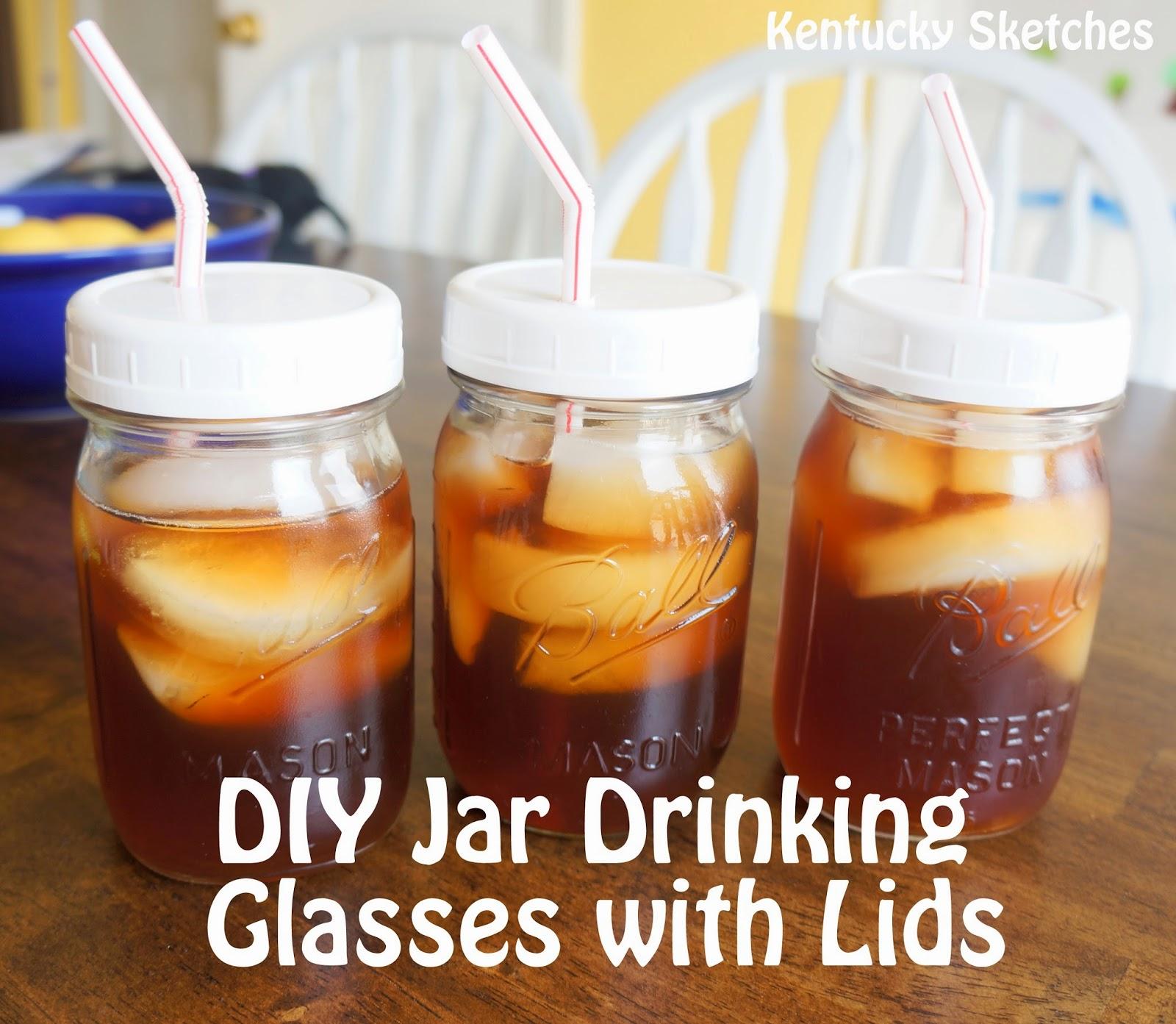 Diy mason jar drinking glasses with lids solutioingenieria Images