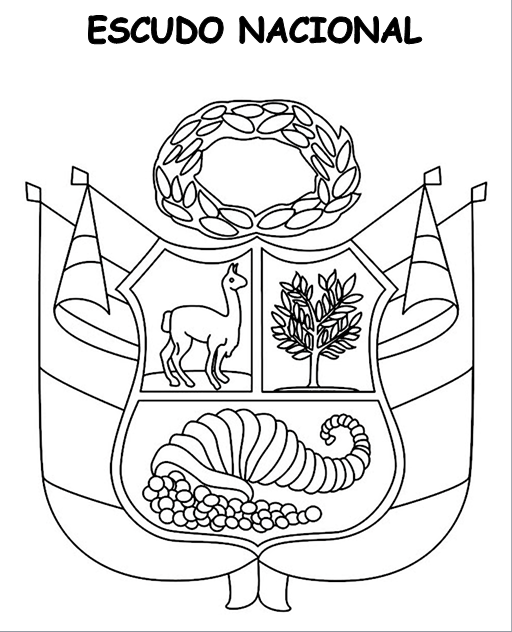 Andaray: Colorea julio 2017: Escudo Nacional