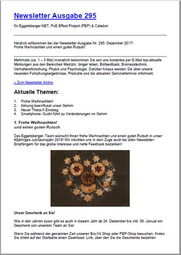 Der neue Newsletter (295) ist online