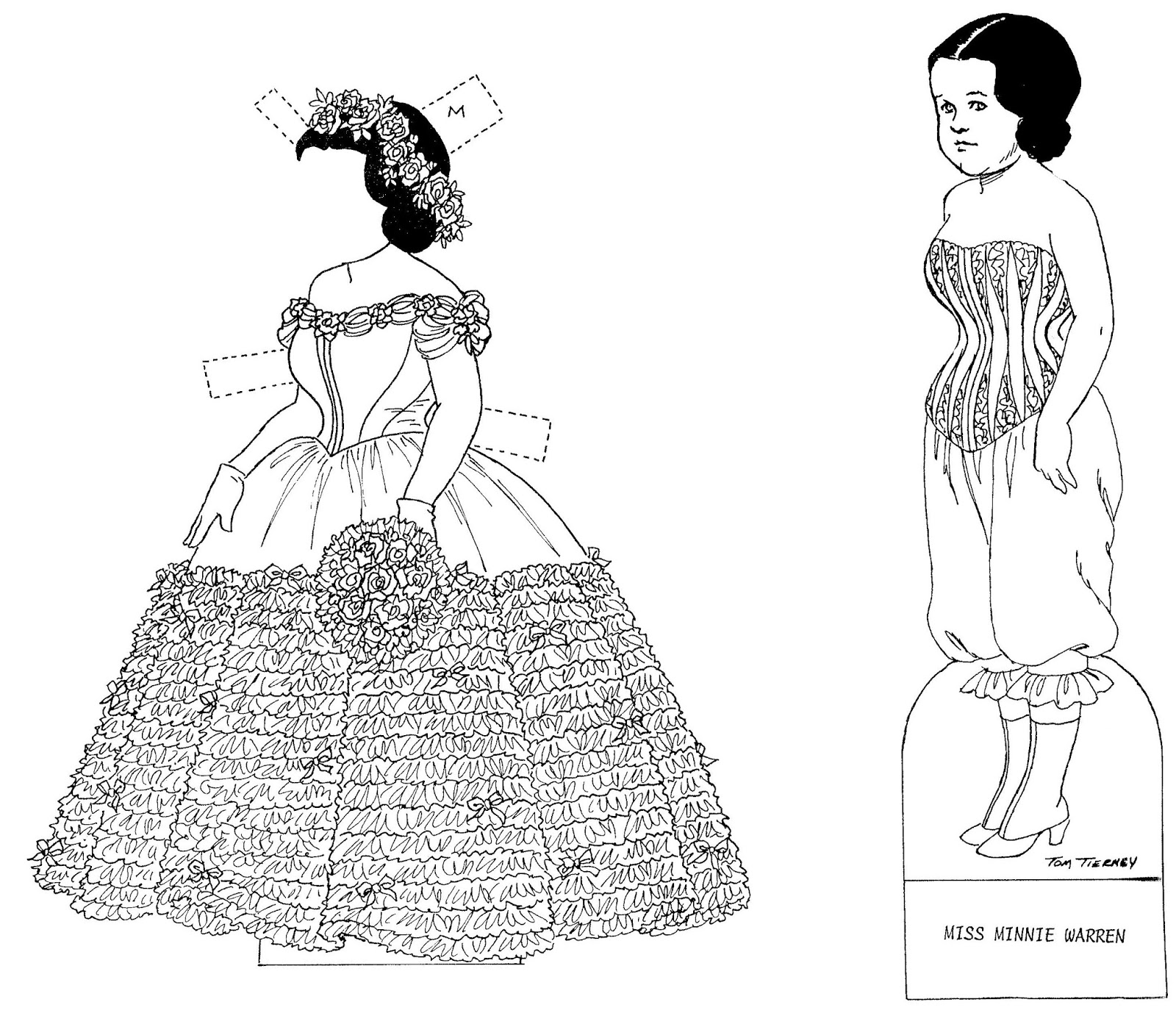 Mostly Paper Dolls Too!: Miss Minnie Warren Paper Doll by