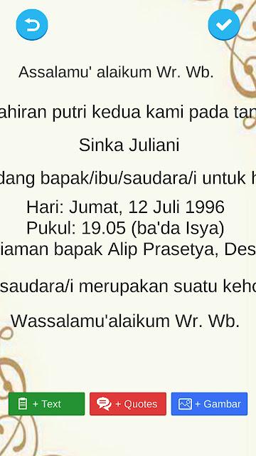 contoh kata kata undangan syukuran aqiqah