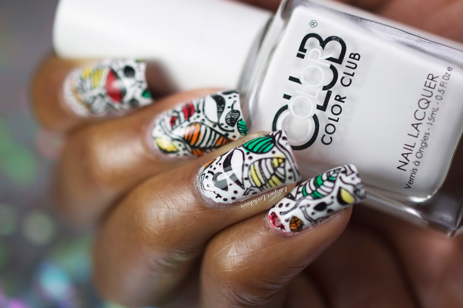 Lacquer Lockdown Uberchic Beauty Fall Nail Art Starbucks Cup Inspired