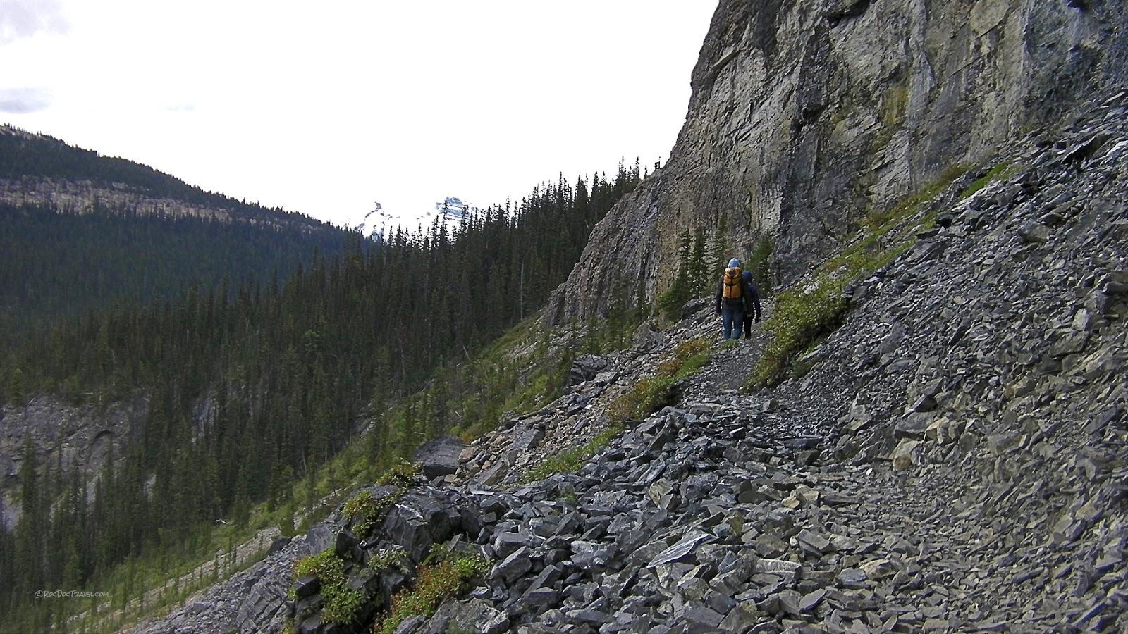 Burgess shale yoho national park british columbia canada geology travel trip fossils hike mountains rockies copyright rocdoctravel.com