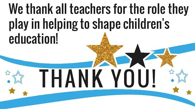 Celebrating Teacher Appreciation Week - May 5-11, 2019