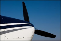 wing tip with propeller prop plane