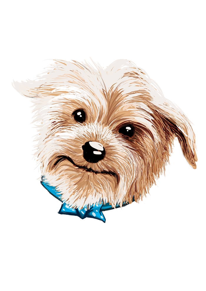 Sir Yorkie Charles Iconic Dog Logo