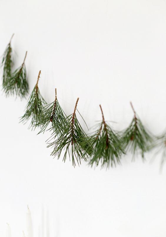 pine tree garland