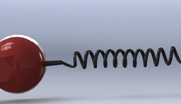 detalle de la espiral de cable modelado con solidworks