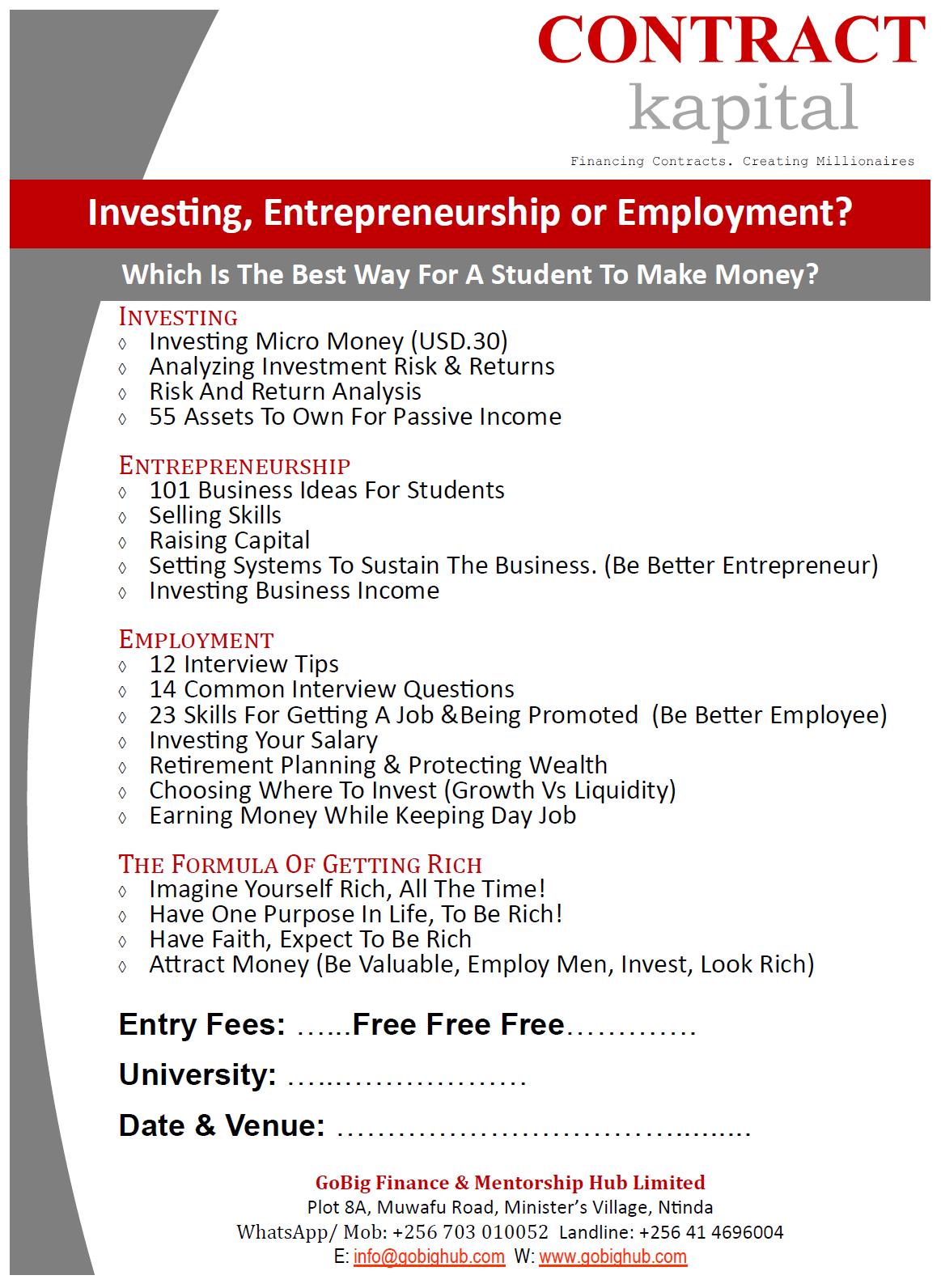 138 Businesses for Sale Kampala, Uganda | Financial Freedom Through