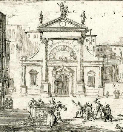 Campo S. Toma in an engraving by Luca Carlevarjs