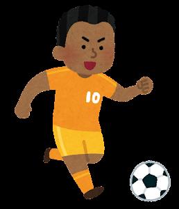 サッカー選手のイラスト(男性・黒人)