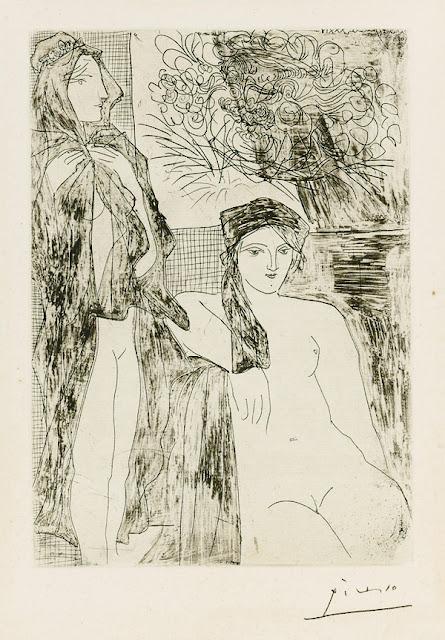 П. Пикассо. Рембрандт и две женщины.