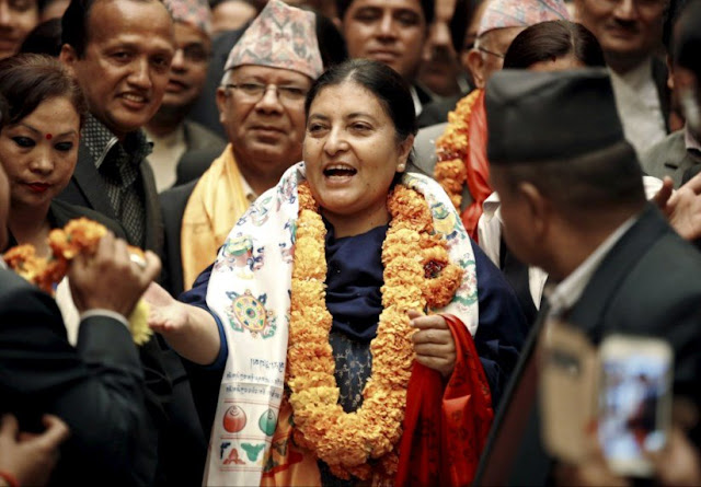 14 March 2017 - Daily Current AffairsBidya Devi Bhandari re-elected President of Nepal