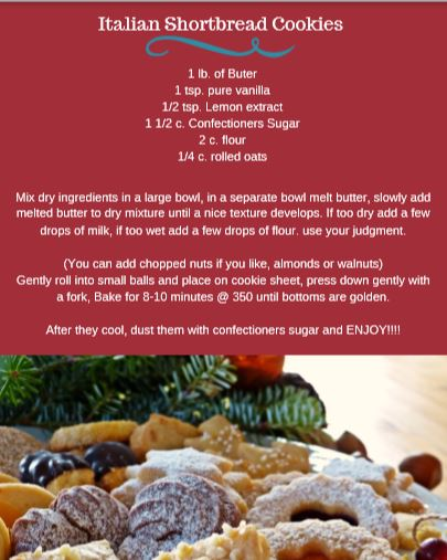 Italian Shortbread Cookies - Official Recipe!
