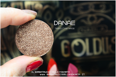 danae pareri eyeshadow ombretto  goldust collection Nabla cosmetics