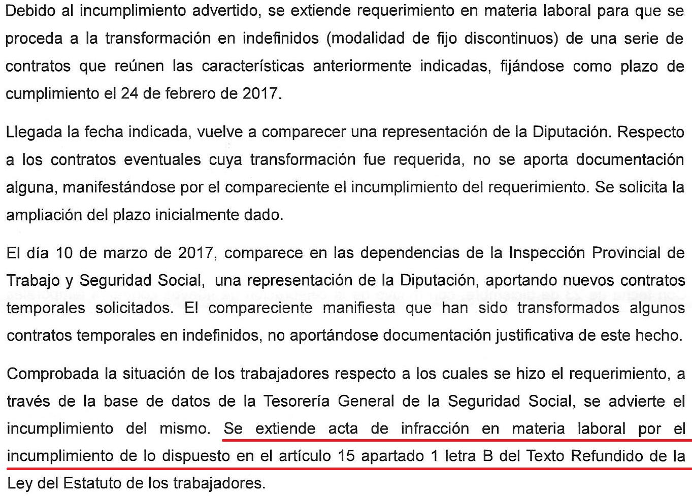 Diputaneando: Acta de infracción a la Diputación de Cadiz por ...