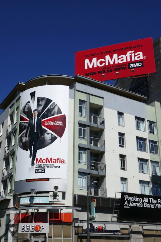 McMafia series launch billboards