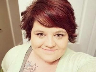 Model rambut pendek wanita gemuk berponi