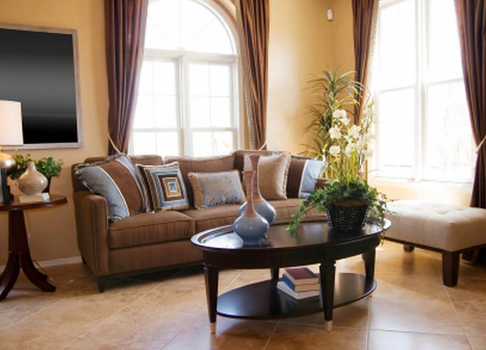 Brown Sofa Room Decor Pull Out Sleeper Full Just Living Ideas