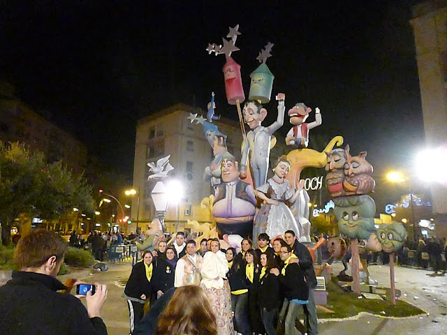 Las Fallas Festival in Valencia, Spain