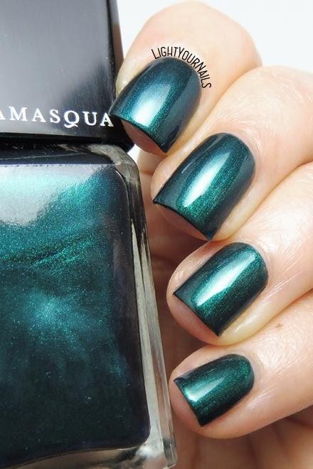 Smalto verde pavone Illamasqua Viridian peacock green nail polish #nails #unghie #illamasqua #lightyournails