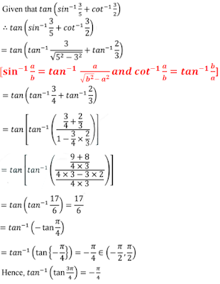NCERT Solutions for Class 12th: Ch 2 Inverse Trigonometric Functions