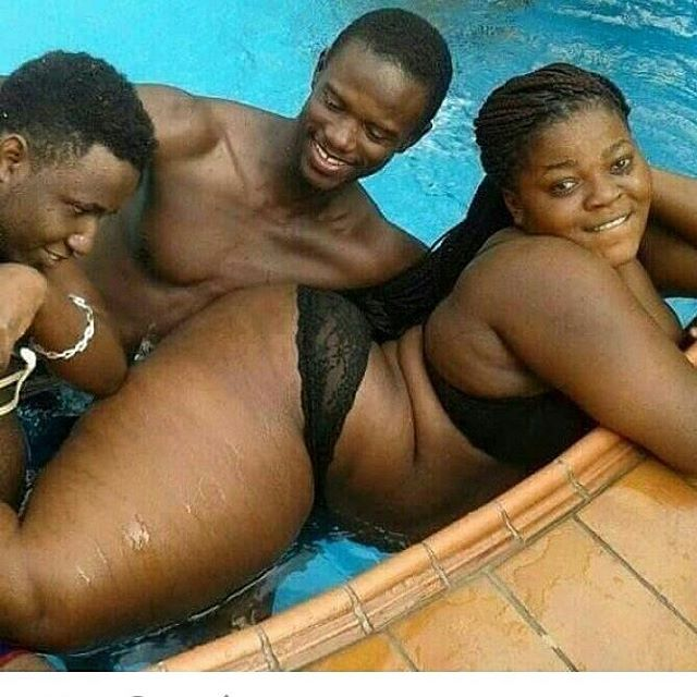 Video&Picture: See What These Guys Did To This Endowed Lady In The Pool