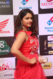 Actress Poonam Bajwa Pictures in Red Long Dress at Mirchi Music Awards South 2015  0016.JPG
