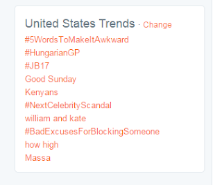 United states trends on Twitter