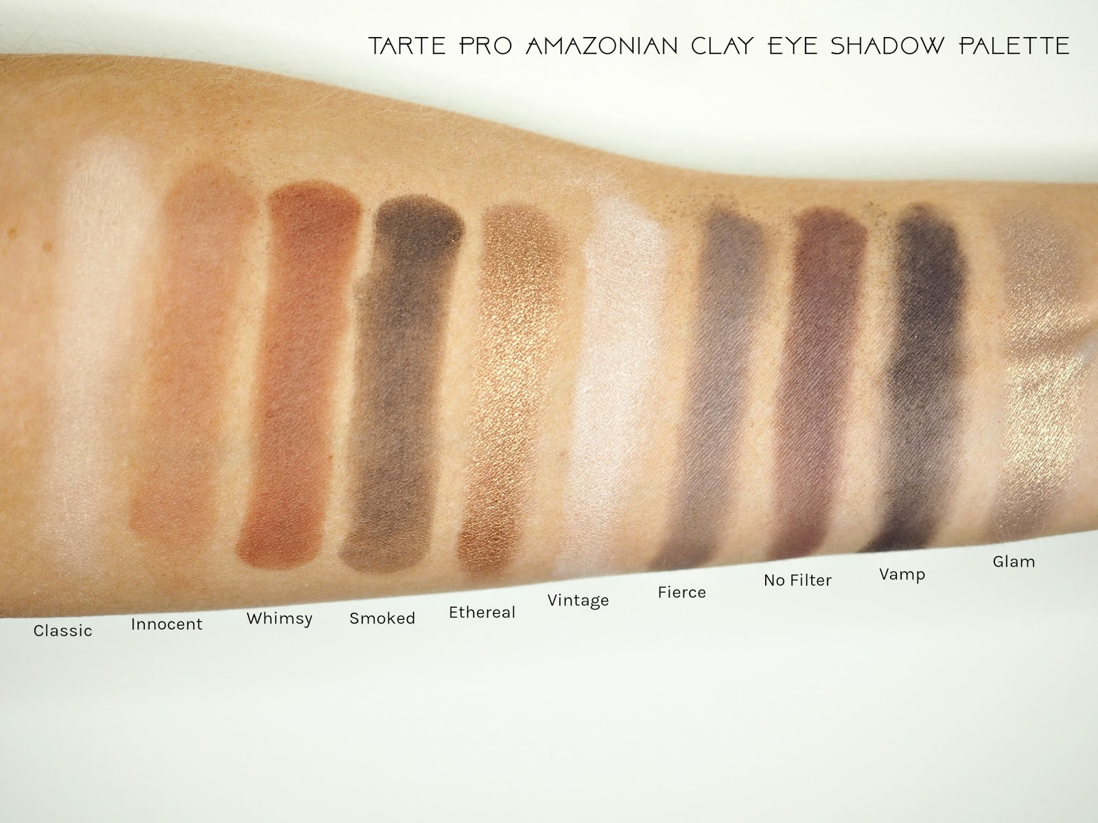 Tarte Pro Amazonian Clay Eyeshadow Palette Swatches