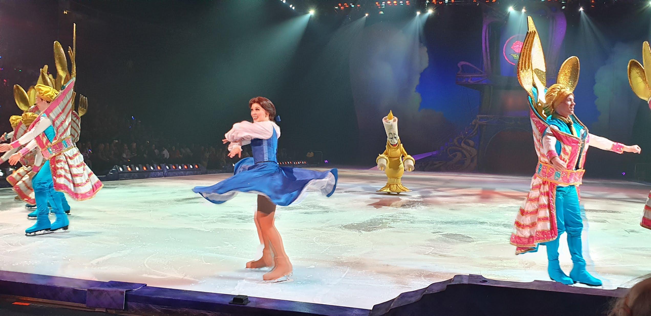 belle skating on ice