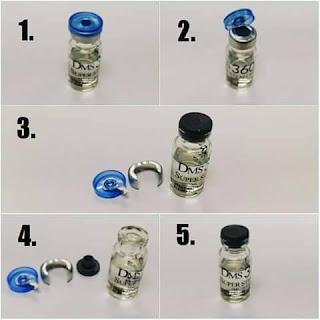 cara buka botol serum dms