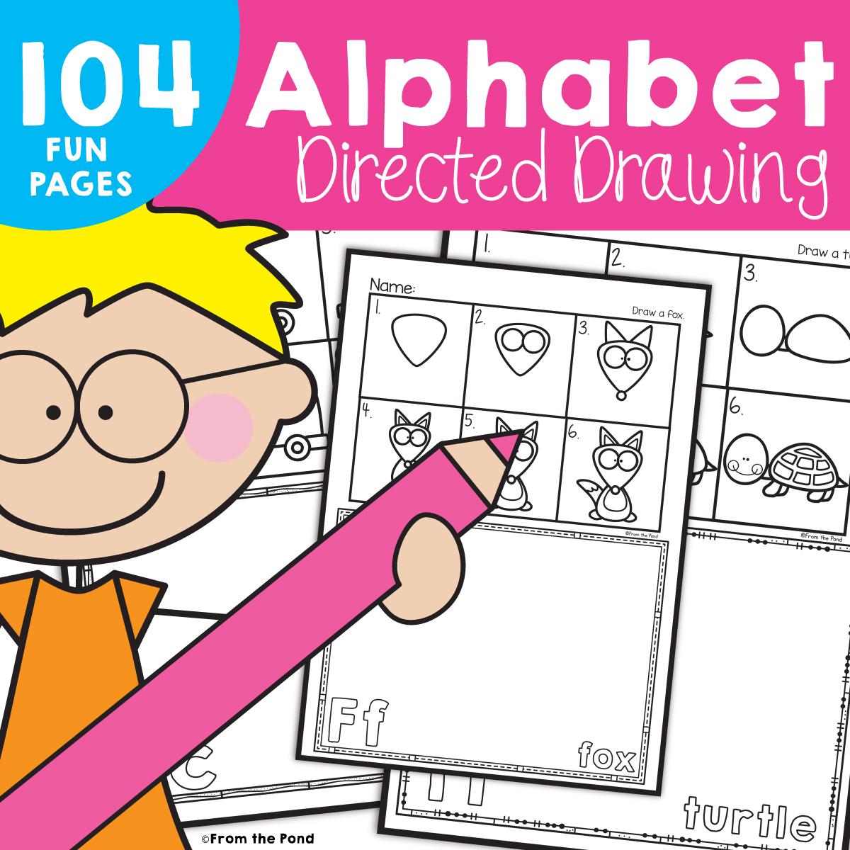 D Dog House Alphabet Directed Draw...