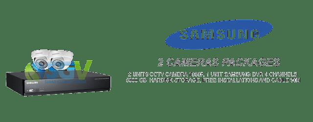 Paket Pasang 2 Camera SAMSUNG