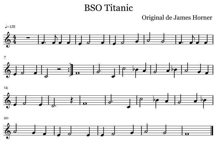 Aula De Música: BSO Titanic Para Flauta Con Acompañamiento