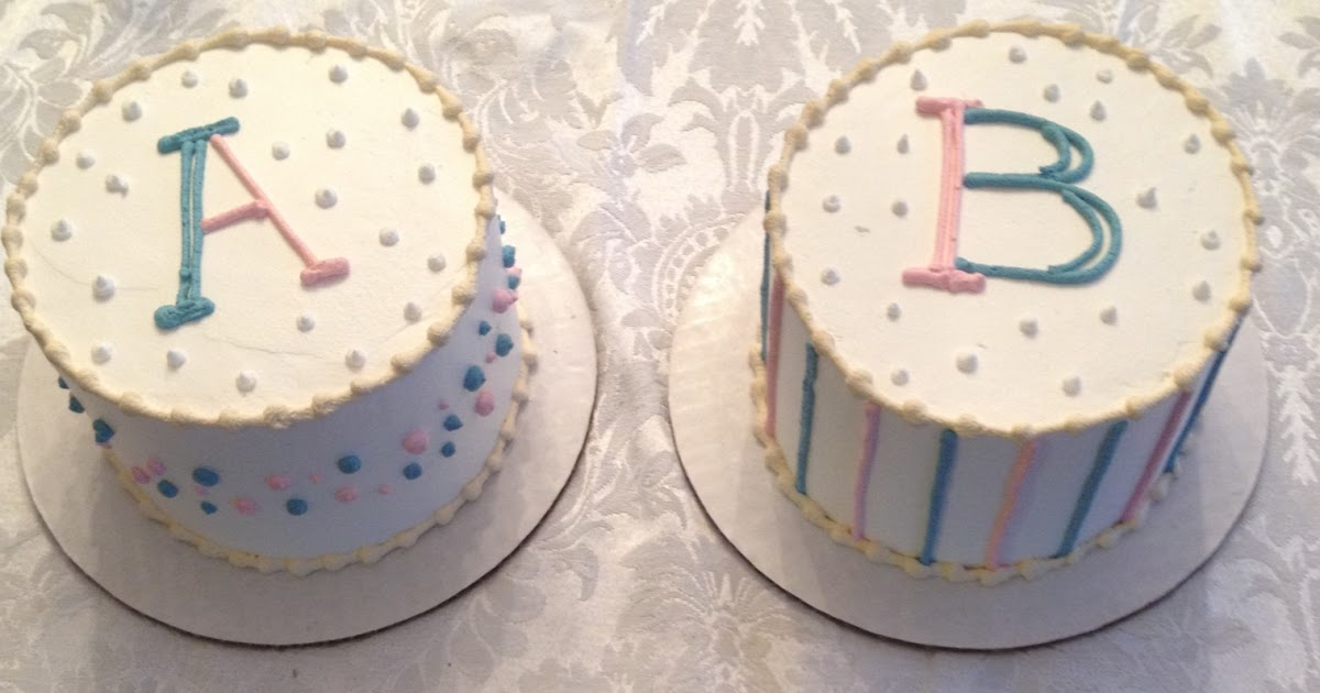 Twin Parenting Twin Gender Reveal Cake And Party
