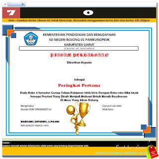 Download Aplikasi Pembuatan Piagam Penghargaan