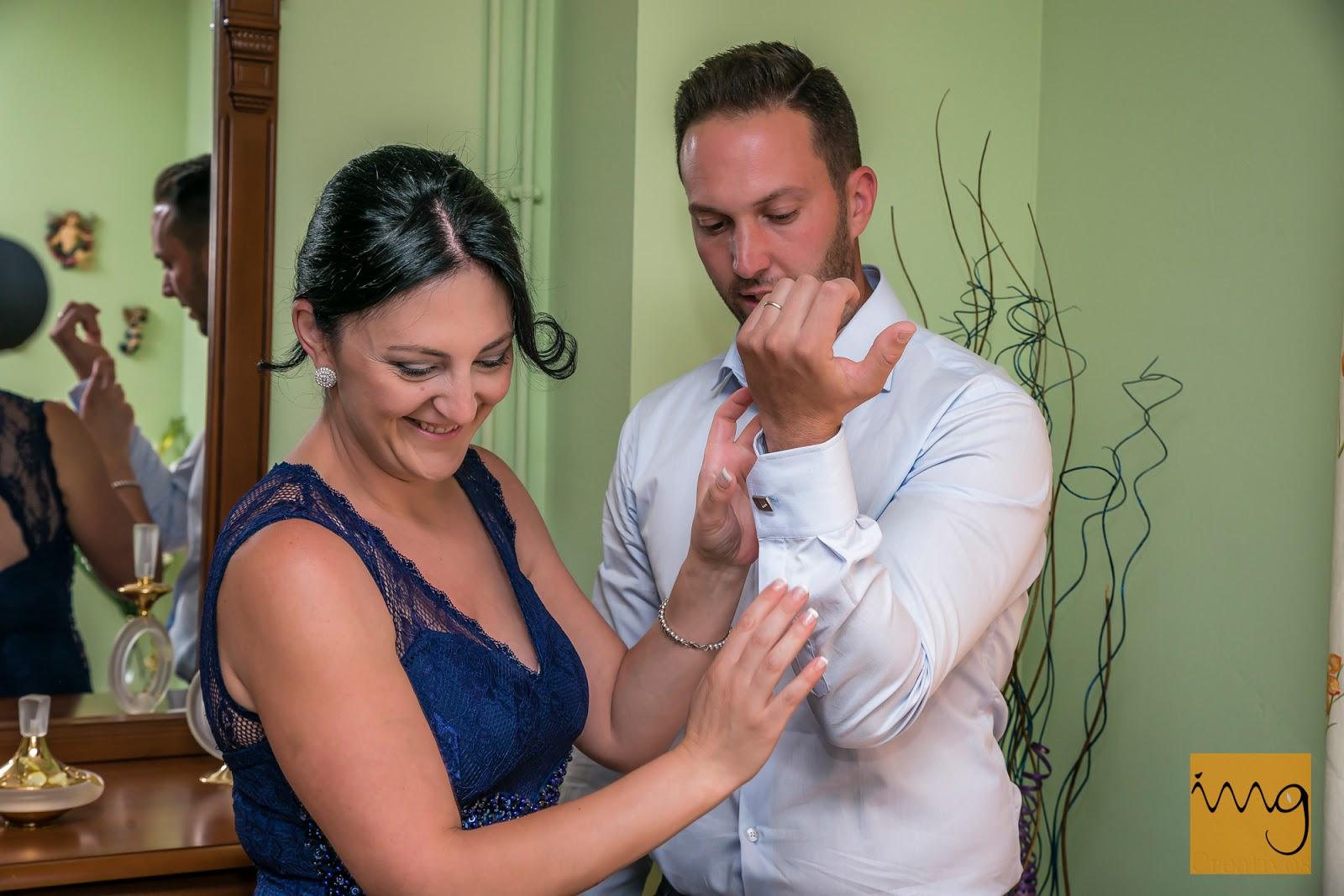 Preparativos en la casa del novio