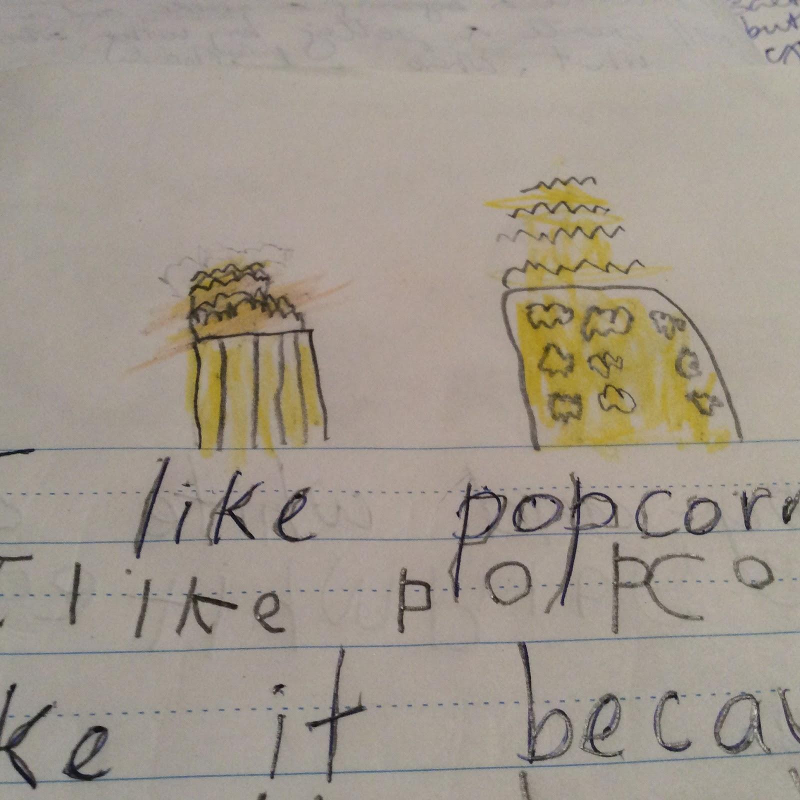 Grace Saint Patrick S School Describe Popcorn