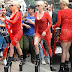 Lady Gaga flashes her underwear in red tight dress as ventures out in New York in high dark foot sole areas (Photos).