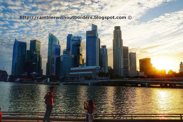 CBD cityscape, Marina Bay, Singapore