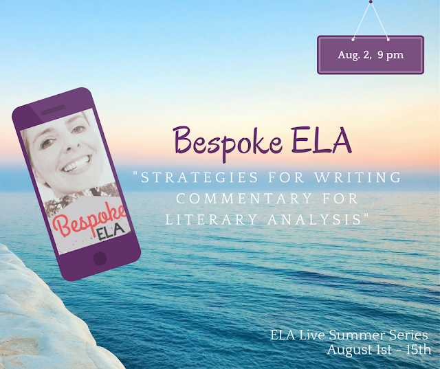 Join 15 ELA Teacher-Authors for the launch of their ELA Live Series, a set of Facebook Live videos with strategies to make this your best teaching year yet.