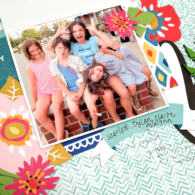 Interactive Flip Up Photo Feature on Summer Vacation Scrapbook Layout