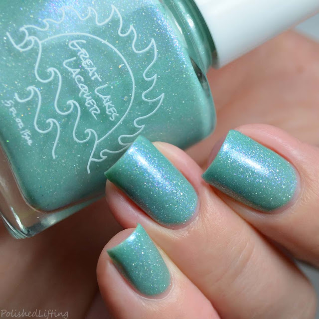 teal thermal nail polish
