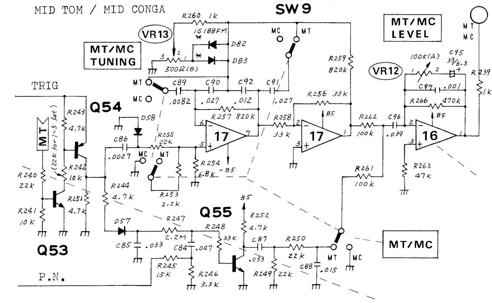 mobila enheten  808 drum schematics
