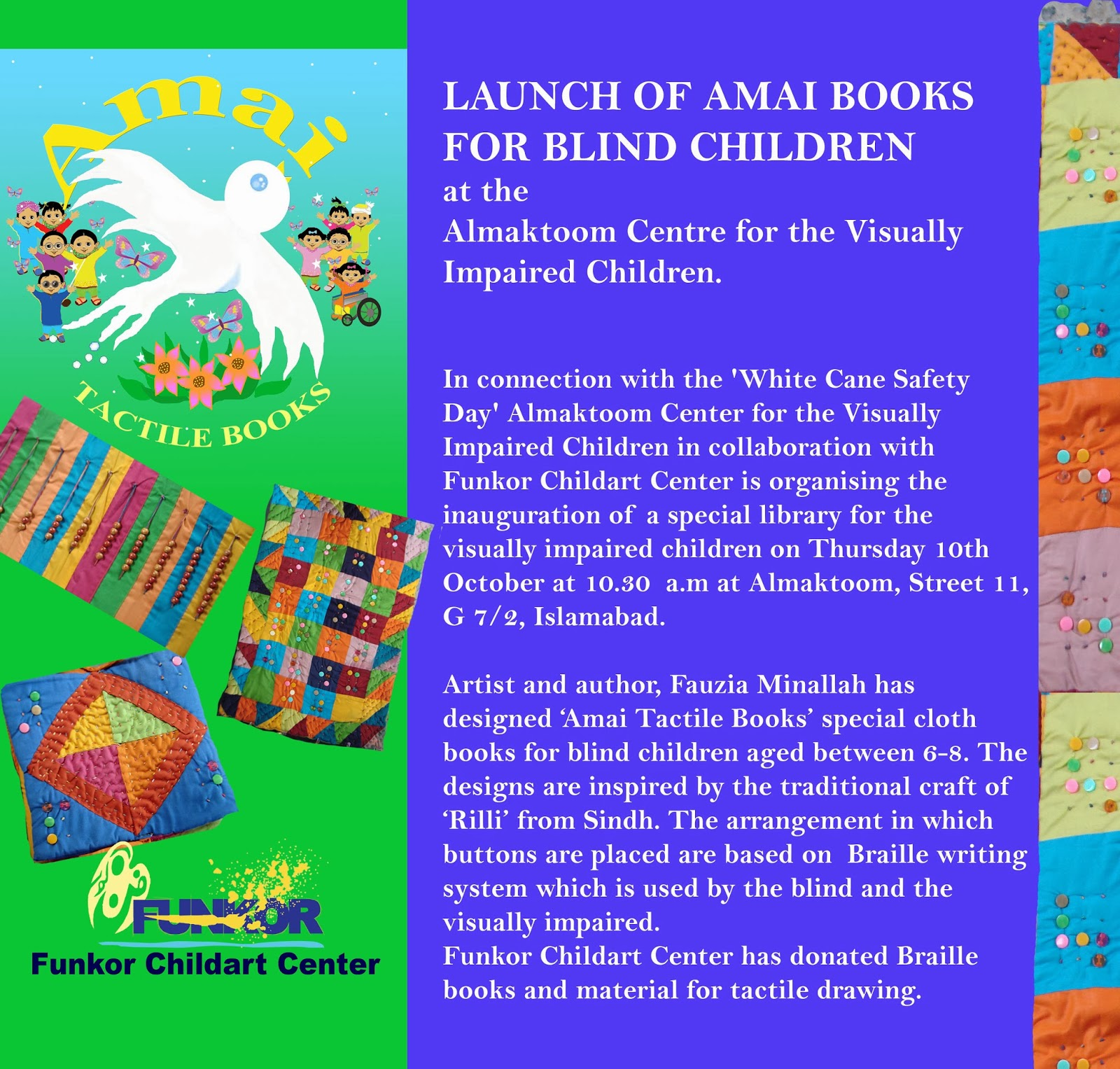 Funkor News: LAUNCH OF AMAI BOOKS FOR BLIND CHILDREN