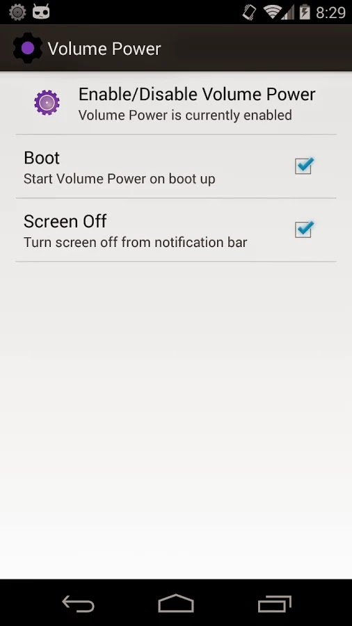 Power Button to Volume Button