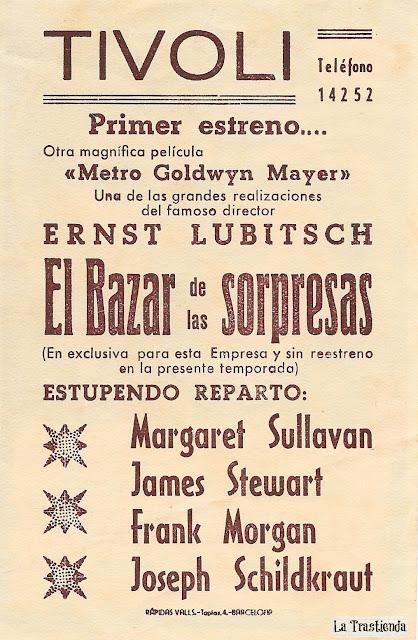 El Bazar de las Sorpresas - Programa de cine - James Stewart - Margaret Sullavan