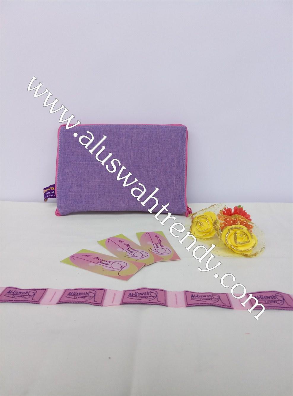 Tas Belanja Lipat Pink Motif Ungu Polos 012