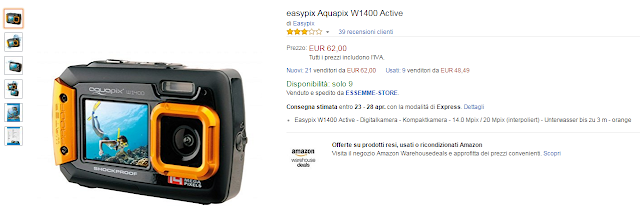 Easypix Aquapix W1400 Active